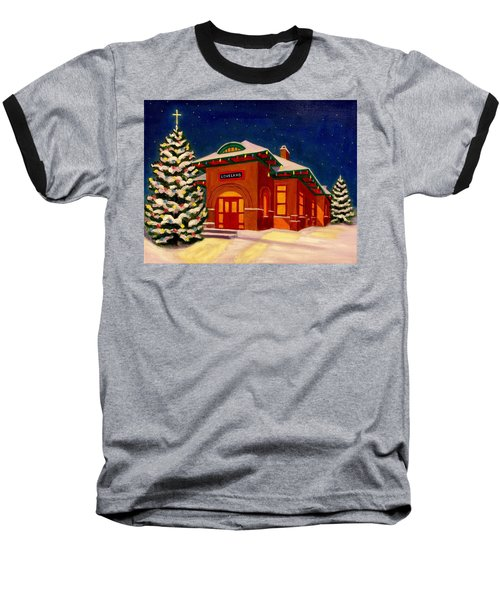 Loveland Depot At Christmas Baseball T-Shirt
