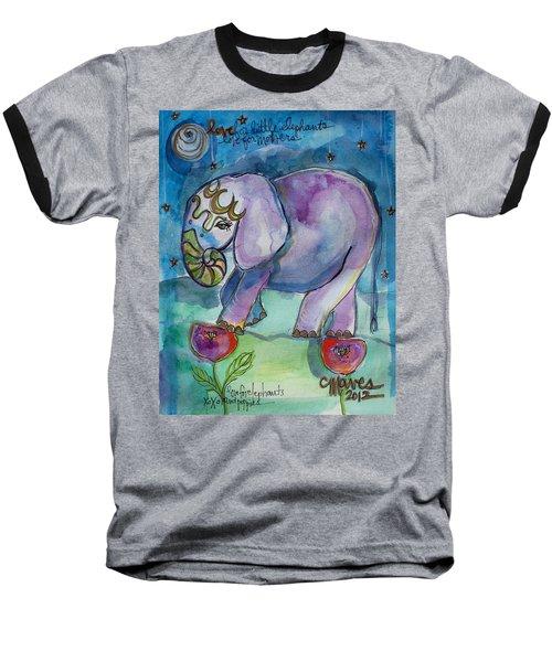 Lovely Little Elephant2 Baseball T-Shirt