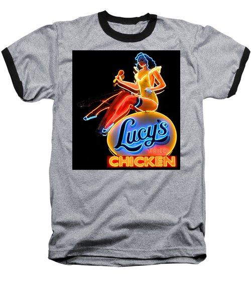 Lovely Lucy's Chicken Baseball T-Shirt