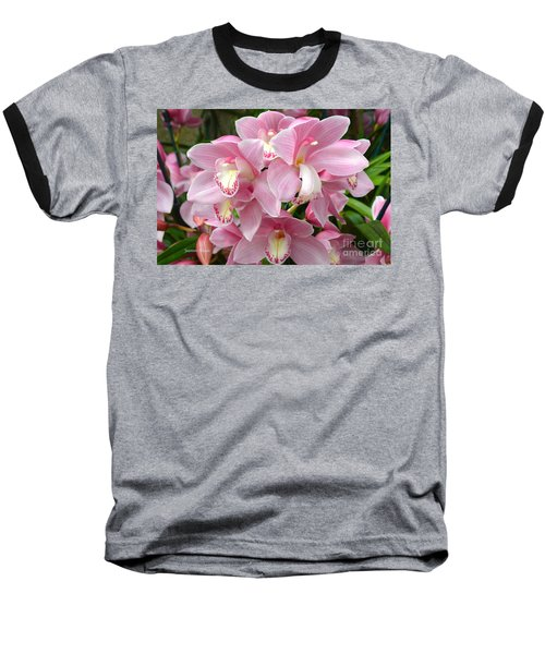 Baseball T-Shirt featuring the photograph Cymbidium Pink Orchids by Jeannie Rhode