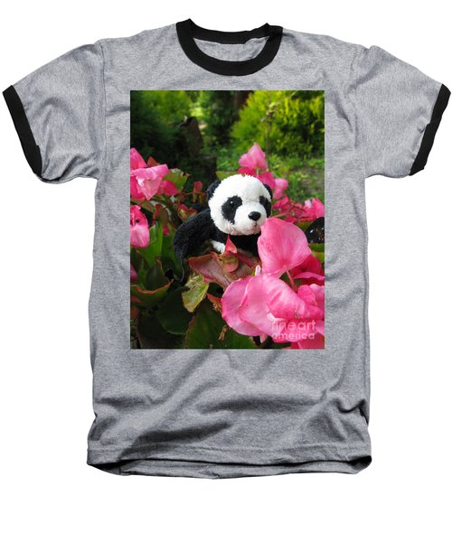 Lovely Pink Flower Baseball T-Shirt