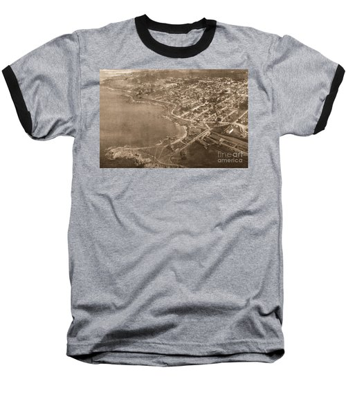 Aerial Of Lovers Point And Pacific Grove California July 10 1906 Baseball T-Shirt