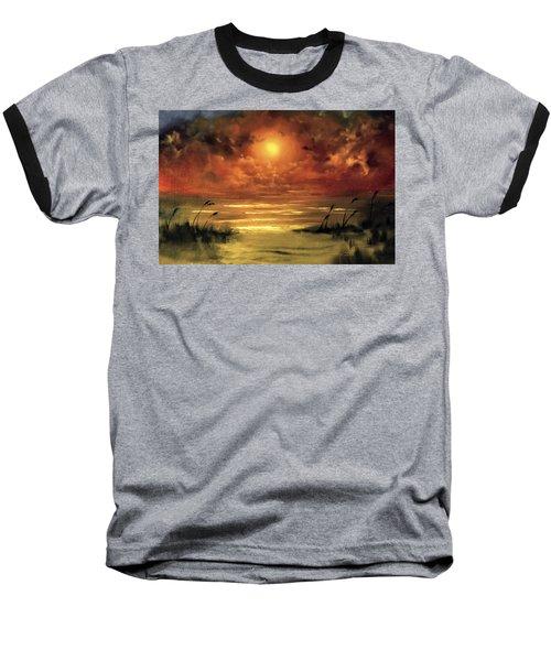 Lovers Sunset Baseball T-Shirt