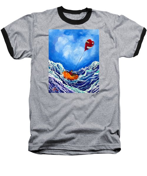 Love's Castaway Baseball T-Shirt by Jackie Carpenter