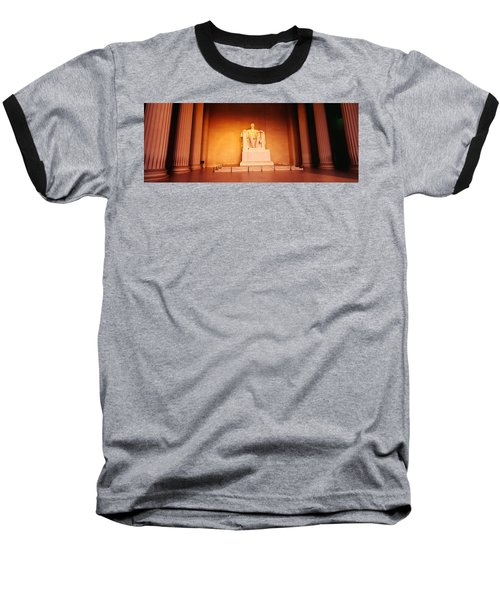 Low Angle View Of A Statue Of Abraham Baseball T-Shirt by Panoramic Images