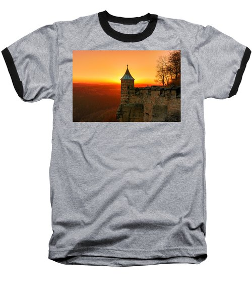 Low Sun On The Fortress Koenigstein Baseball T-Shirt