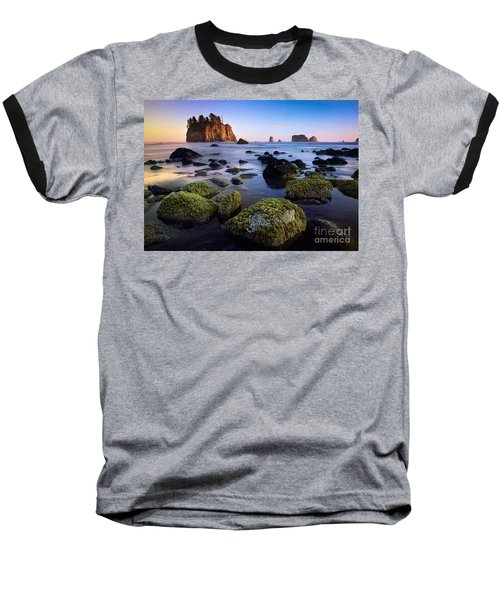 Low Tide At Second Beach Baseball T-Shirt