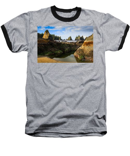 Low Tide At The Arches Baseball T-Shirt