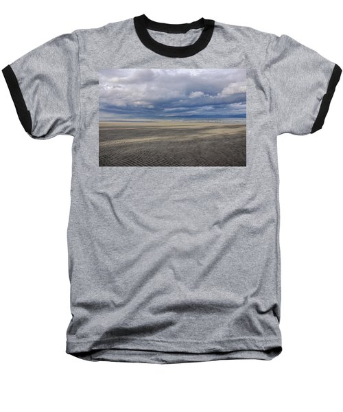 Low Tide Sandscape Baseball T-Shirt by Roxy Hurtubise