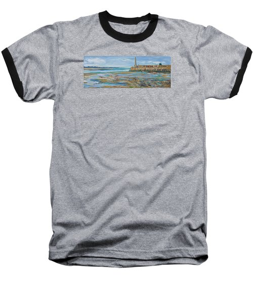 Low Tide In The Harbour. Baseball T-Shirt