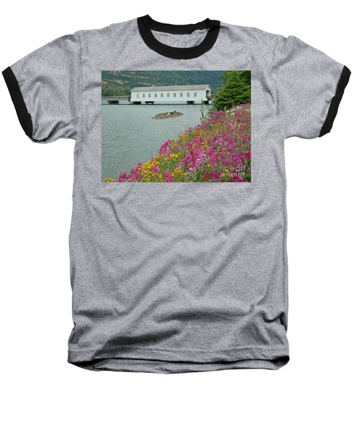 Baseball T-Shirt featuring the photograph Lowell Covered Bridge by Nick  Boren