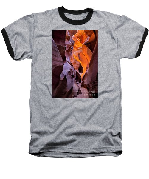 Lower Antelope Glow Baseball T-Shirt by Jerry Fornarotto