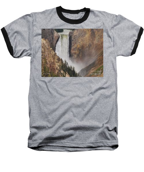 Baseball T-Shirt featuring the photograph Lower Falls - Yellowstone by Mary Carol Story