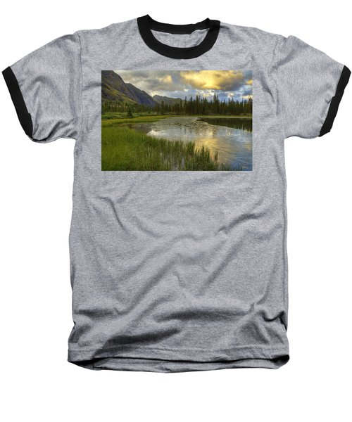 Lower Ice Lake Baseball T-Shirt