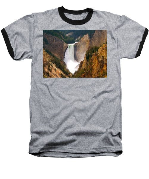 Baseball T-Shirt featuring the photograph Lower Yellowstone Falls by Eric Tressler