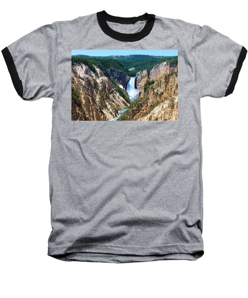 Lower Yellowstone Falls Baseball T-Shirt
