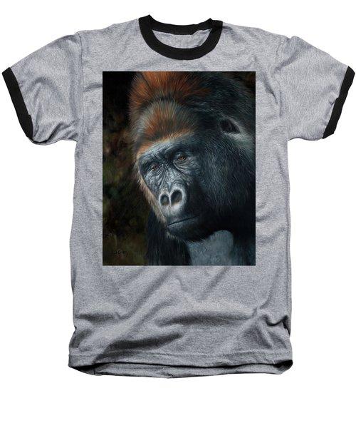 Lowland Gorilla Painting Baseball T-Shirt