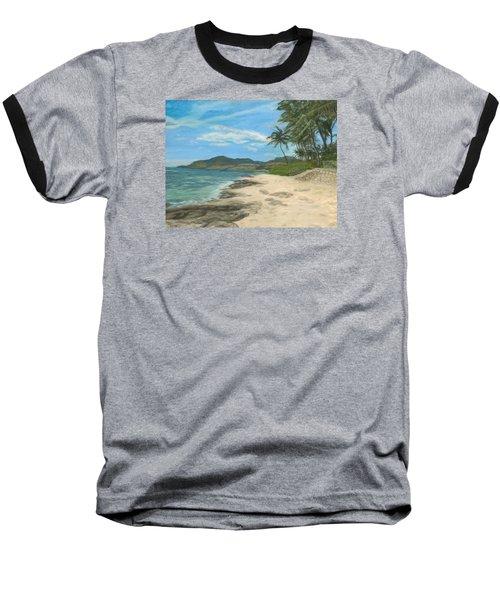 Lualualei Beach Baseball T-Shirt