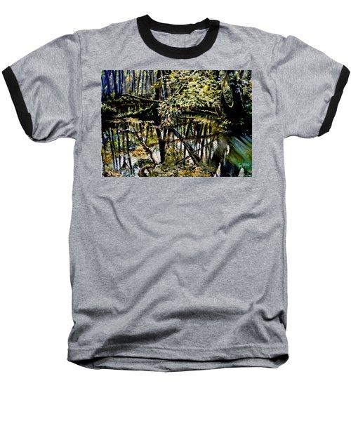 Lubianka-4 Mystery Of Swamp Forest Baseball T-Shirt by Henryk Gorecki