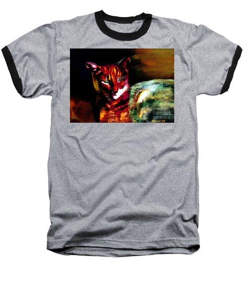 Lucifer Sam Tiger Cat Baseball T-Shirt