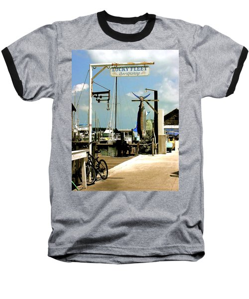 Baseball T-Shirt featuring the painting Lucky Fleet Key West  by Iconic Images Art Gallery David Pucciarelli