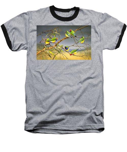 Lucky Seven - Gouldian Finches Baseball T-Shirt