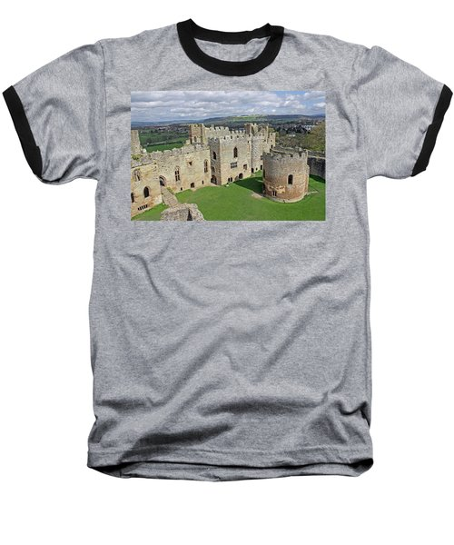 Ludlow Castle Chapel And Great Hall Baseball T-Shirt