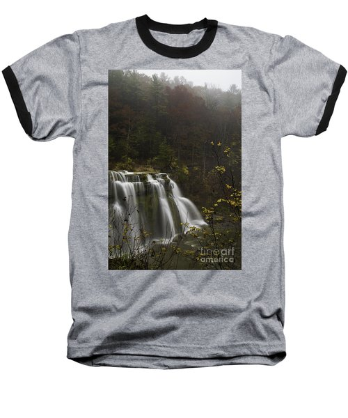 Ludlowville Falls In Autumn I Baseball T-Shirt