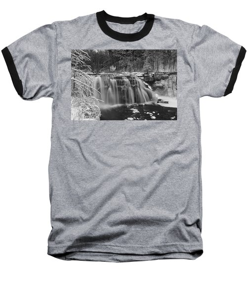 Ludlowville Falls In Winter I Baseball T-Shirt