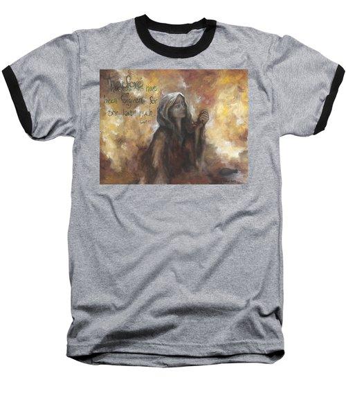 Luke 7 Verse 47 Forgiveness Baseball T-Shirt