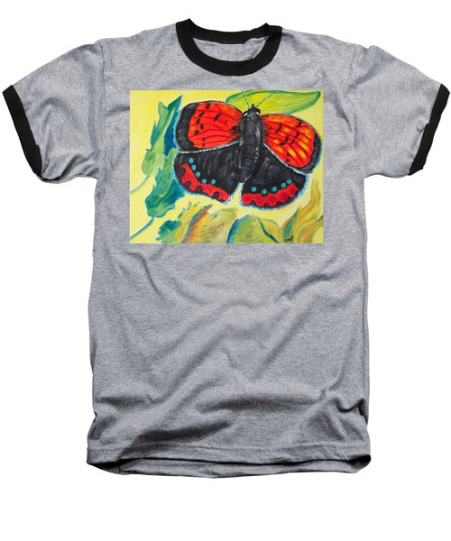 Baseball T-Shirt featuring the painting Luminous by Meryl Goudey