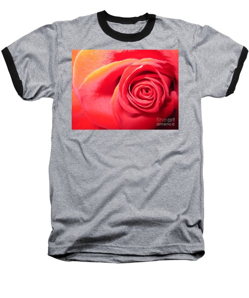Luminous Red Rose 1 Baseball T-Shirt