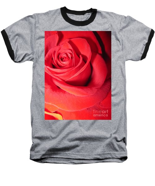 Luminous Red Rose 6 Baseball T-Shirt