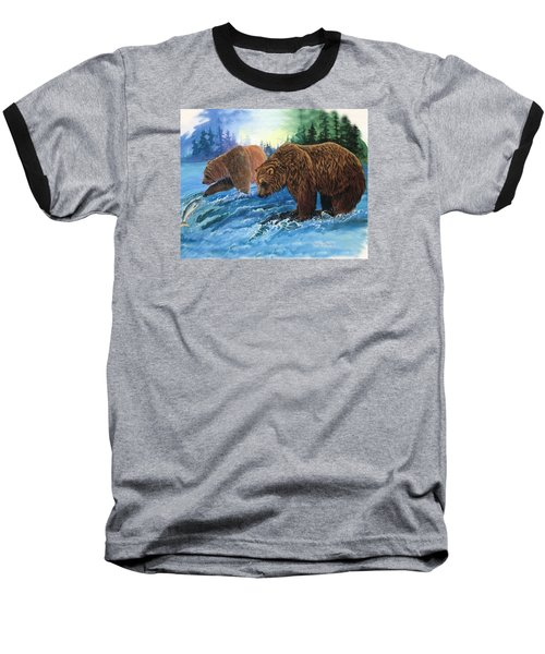 Baseball T-Shirt featuring the painting Lunch Break by Sherry Shipley