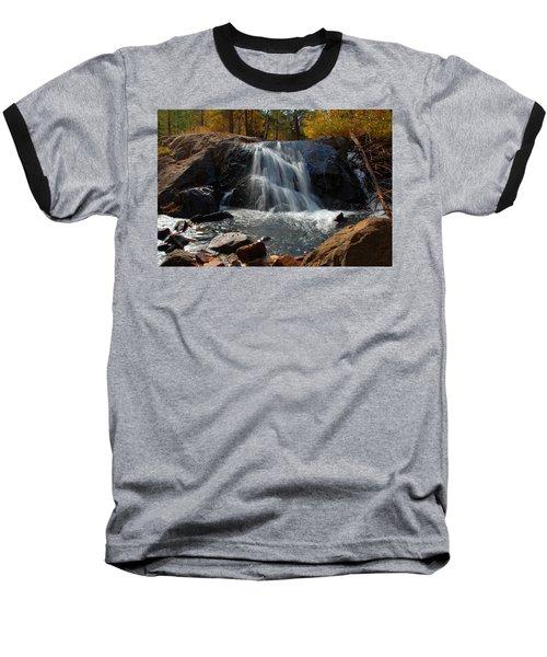 Lundy Creek Cascades Baseball T-Shirt by Lynn Bauer