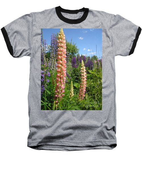 Baseball T-Shirt featuring the photograph Lupin Summer by Martin Howard