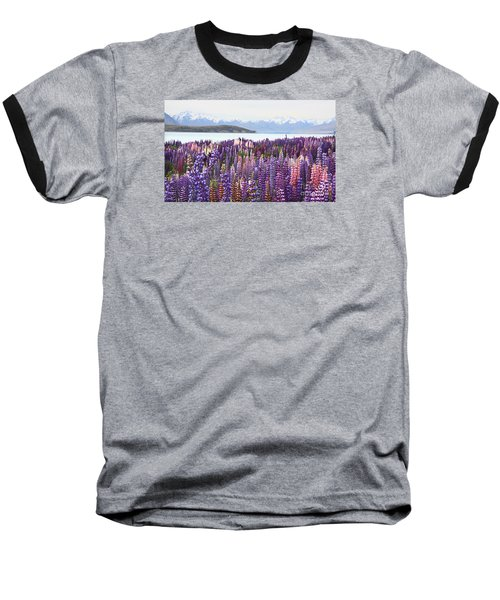 Lupins At Tekapo Baseball T-Shirt by Nareeta Martin