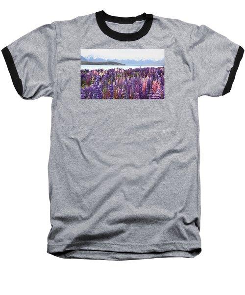 Baseball T-Shirt featuring the photograph Lupins At Tekapo by Nareeta Martin