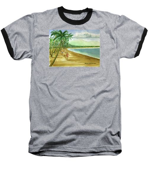 Luquillo Beach And El Yunque Puerto Rico Baseball T-Shirt by Frank Hunter