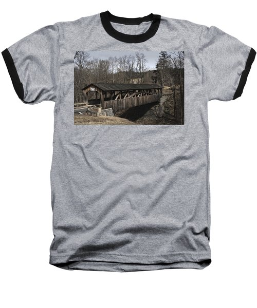 Luther's Mill Covered Bridge Baseball T-Shirt