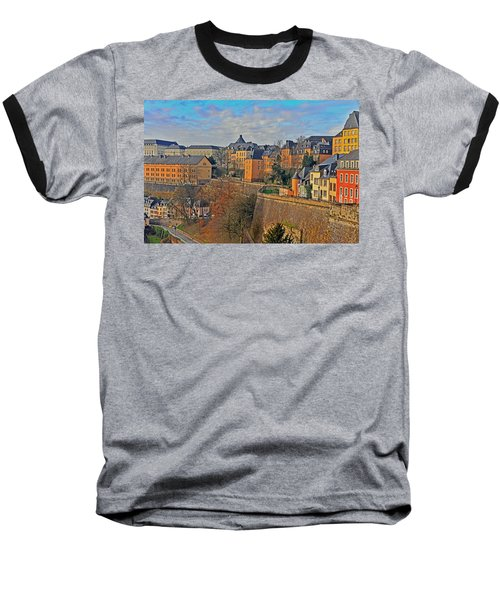 Luxembourg Fortification Baseball T-Shirt