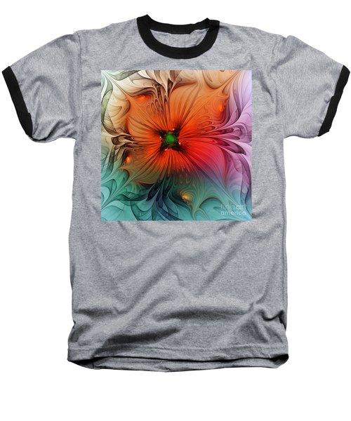 Luxury Blossom Dressed In Velvet And Silk Baseball T-Shirt