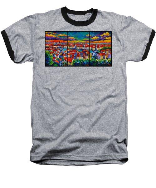 Lyon Panorama Triptych Baseball T-Shirt