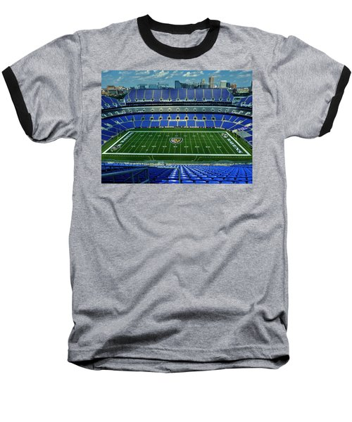 M And T Bank Stadium Baseball T-Shirt by Robert Geary