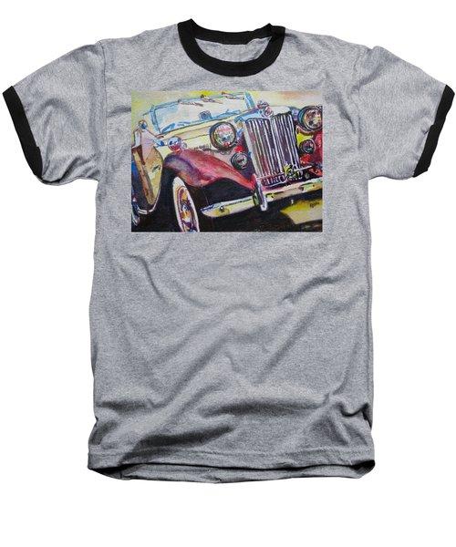 Baseball T-Shirt featuring the painting M G Car  by Anna Ruzsan