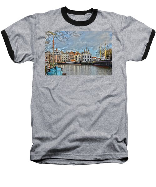Maassluis Harbour Baseball T-Shirt
