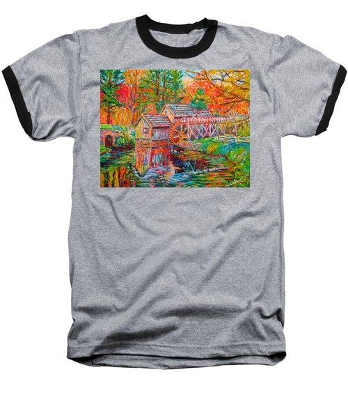 Mabry Mill In Fall Baseball T-Shirt