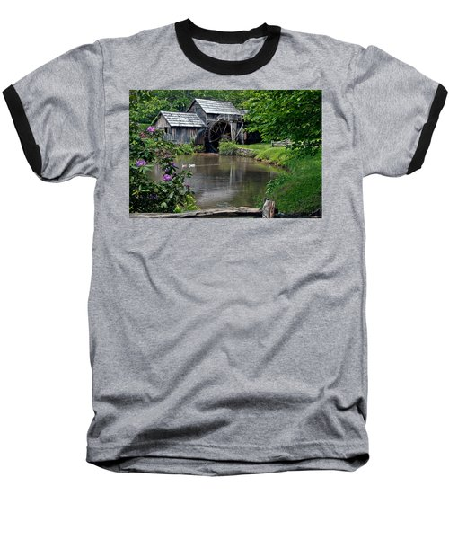 Mabry Mill In May Baseball T-Shirt by John Haldane