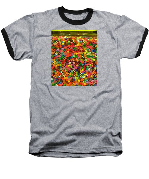 Macaroni Beads Baseball T-Shirt by Ranjini Kandasamy
