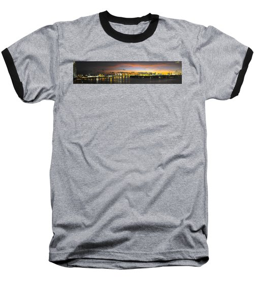 Macarthur Causeway Bridge Baseball T-Shirt